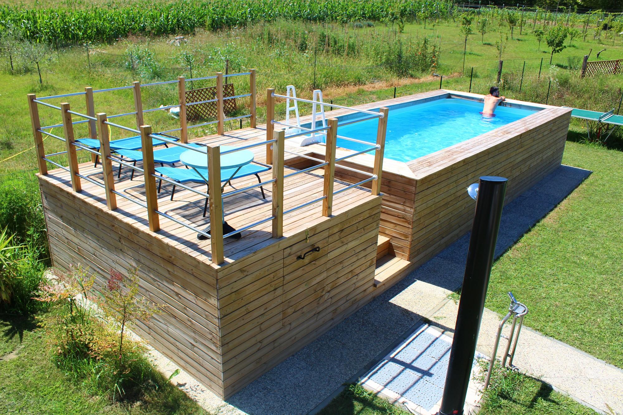 Le 48 pi belle piscine fuori terra rivestite piscine - Misure piscine fuori terra ...