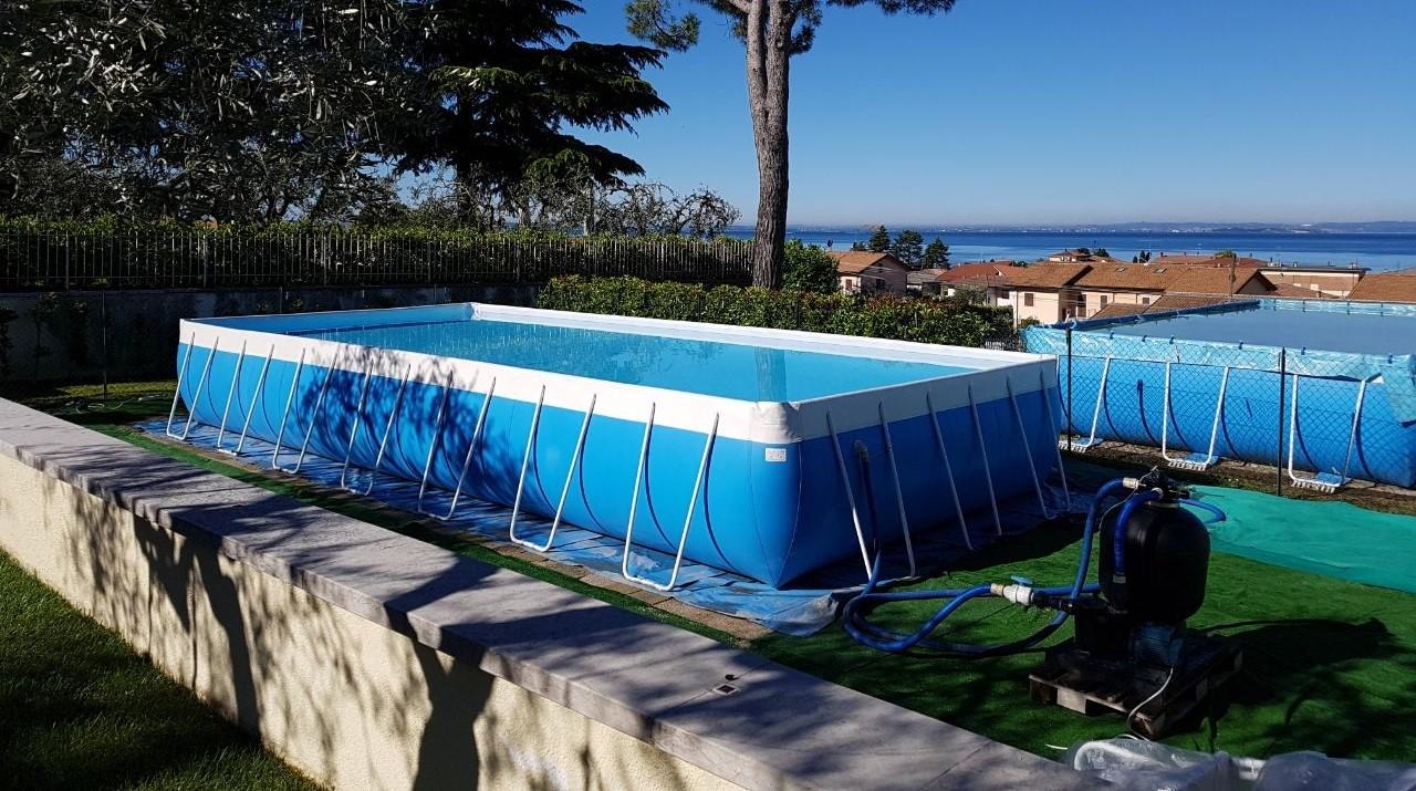Le 48 pi belle piscine fuori terra rivestite piscine - Polistirolo sotto la piscina fuori terra ...