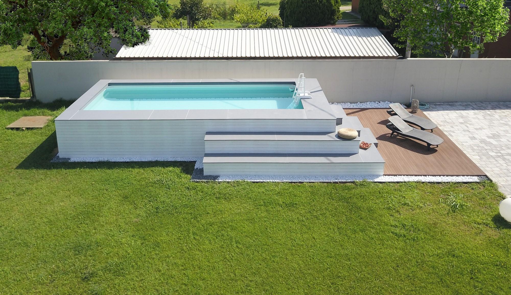 Rivestimento in legno per piscine fuori terra zs15 for Costruire piscina fai da te