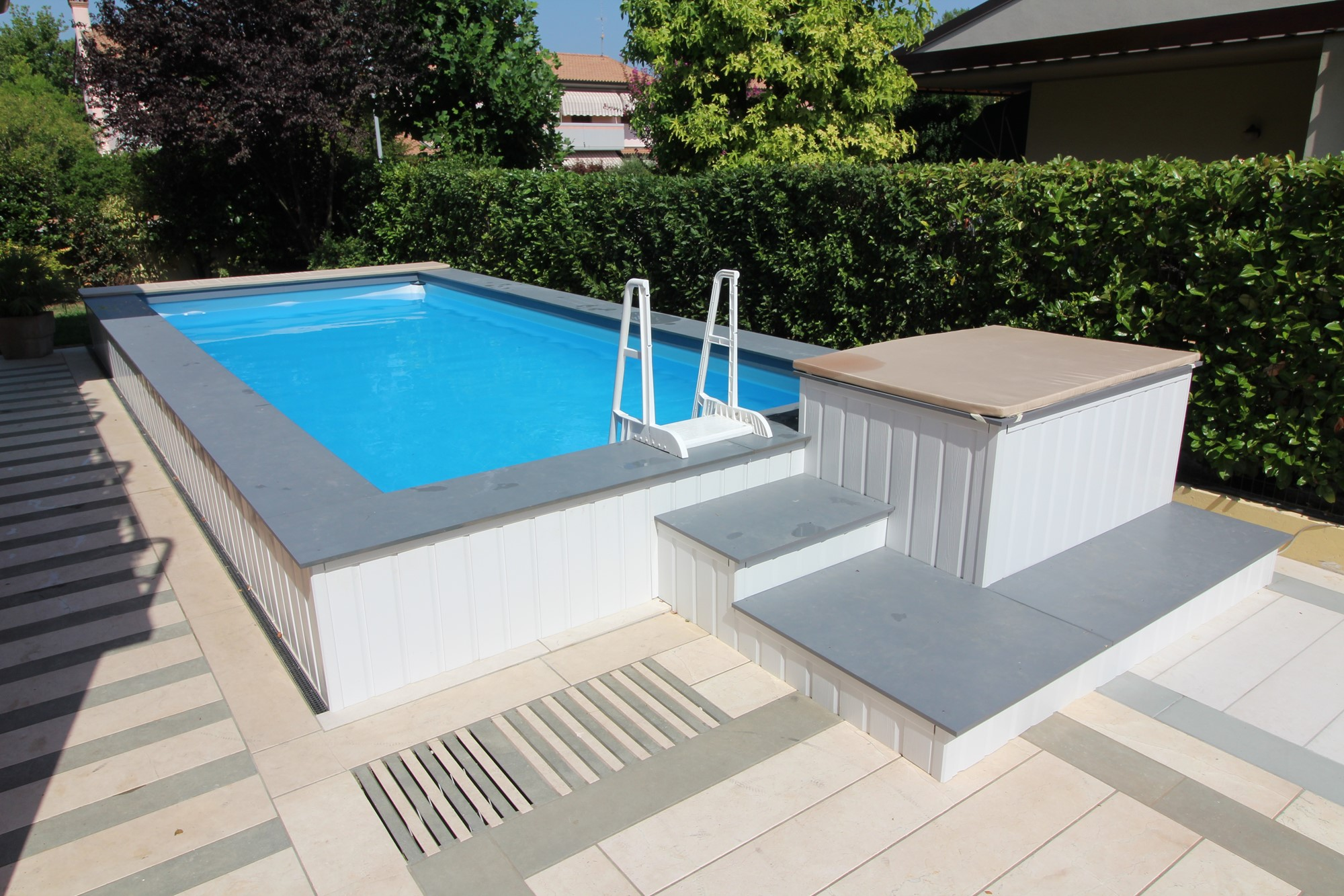 Cheap piscina fuori terra misure ingombro mt x x h for Piscine strette e lunghe