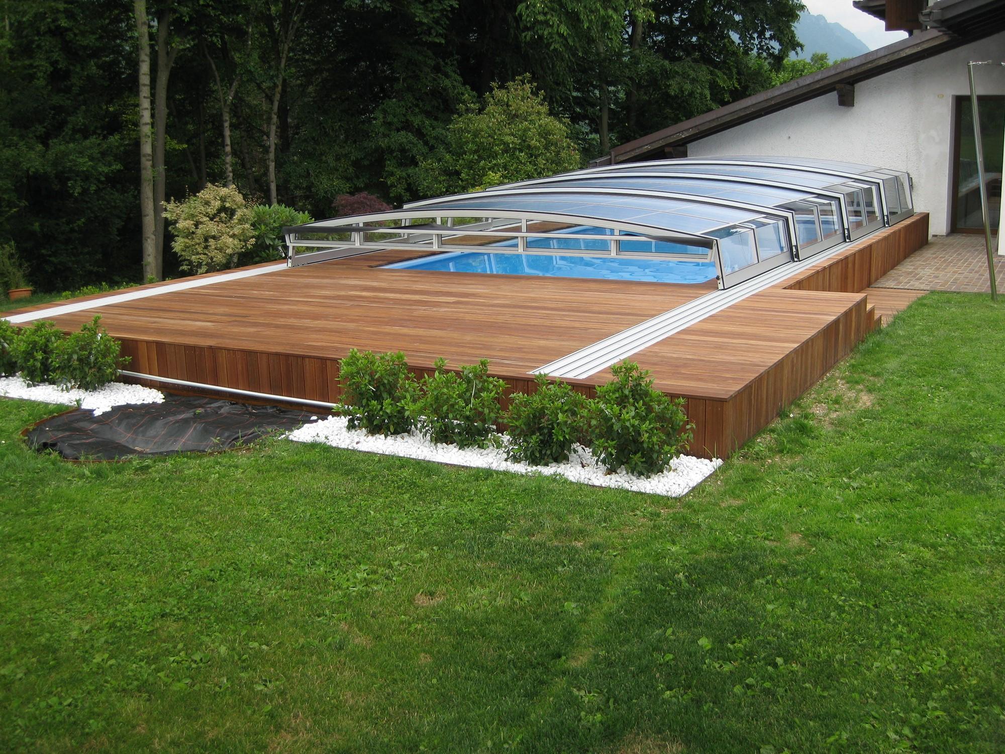 Le 48 pi belle piscine fuori terra rivestite piscine - Piscina fuori terra in pendenza ...