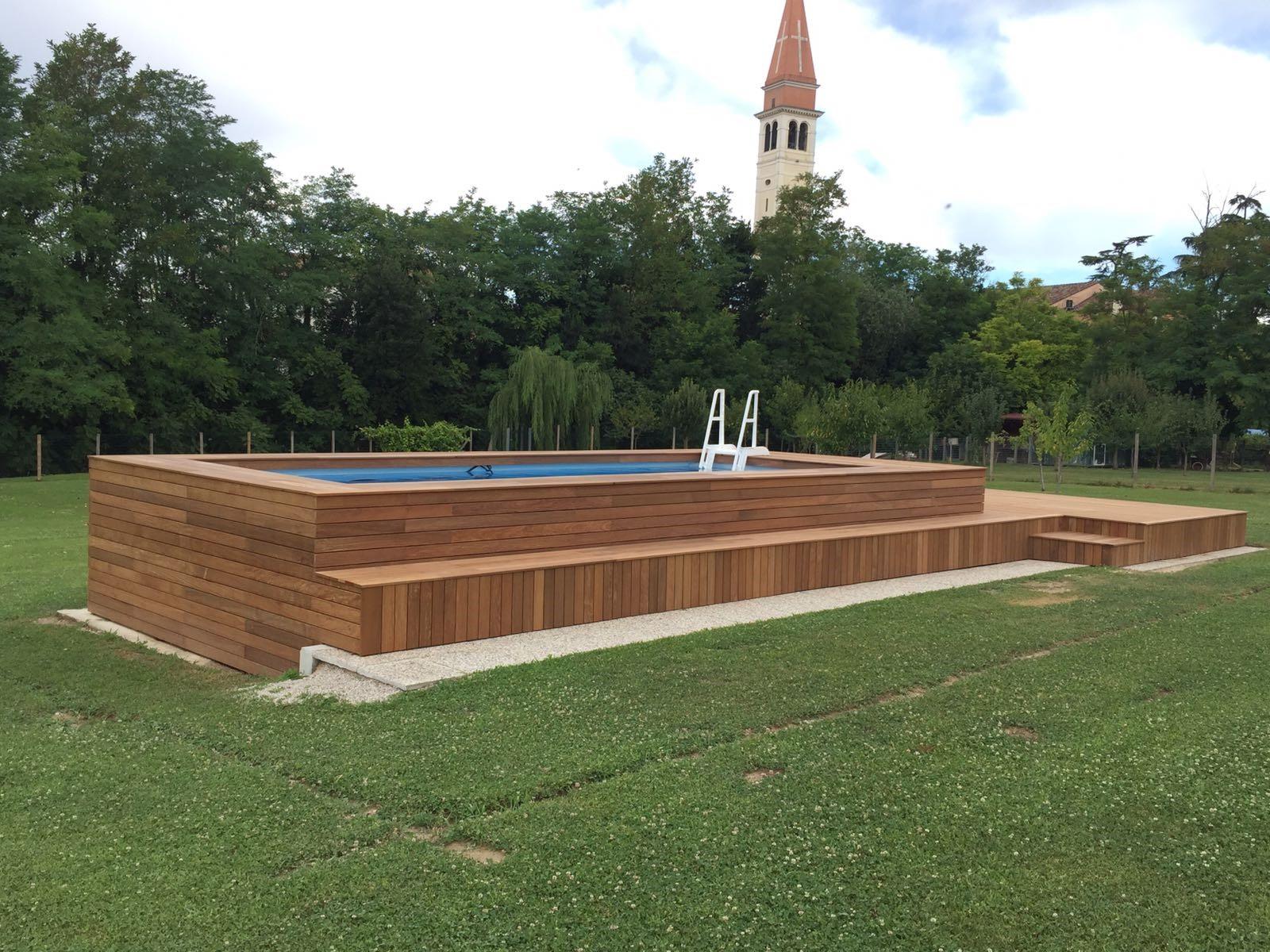 Prima e dopo 37 immagini con e senza piscina - Misure piscine fuori terra ...