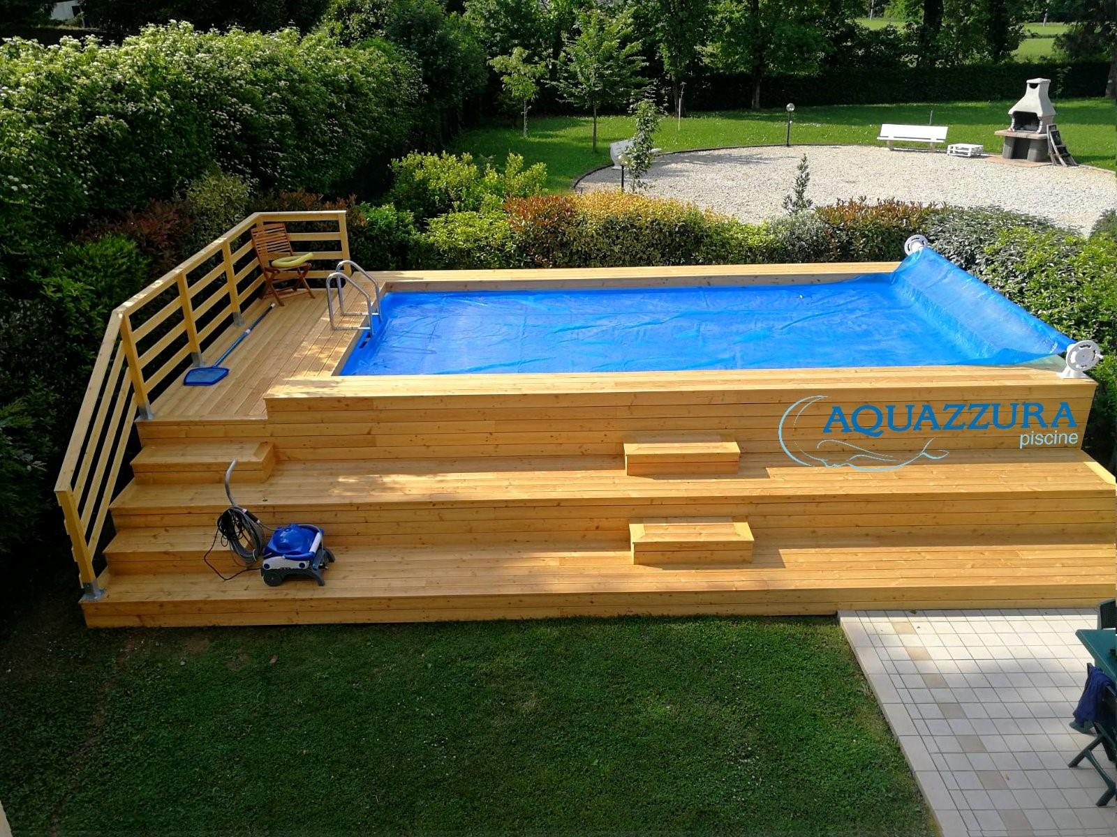 Pedana Di Legno Per Giardino le 48 più belle piscine fuori terra rivestite piscine