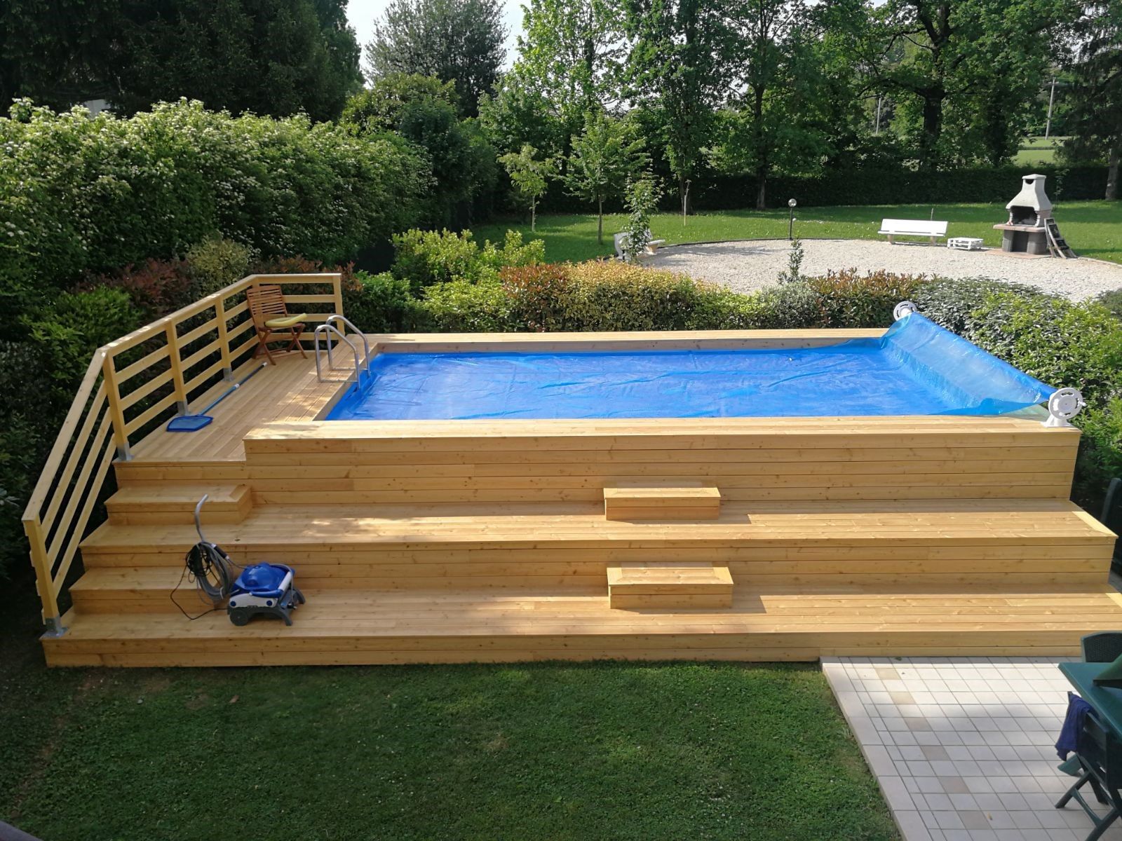 Prima e dopo 37 immagini con e senza piscina - Pulizia piscina fuori terra ...