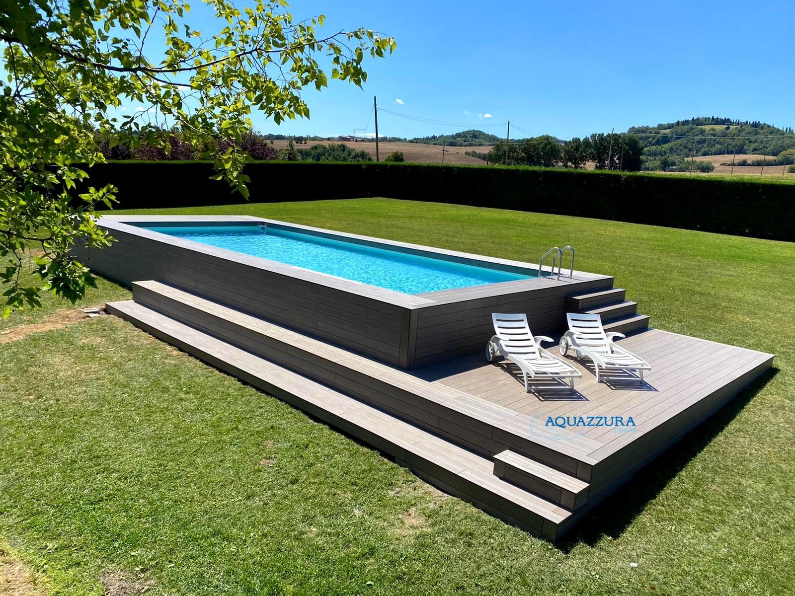 Le 48 pi belle piscine fuori terra rivestite piscine for Piscina rialzata