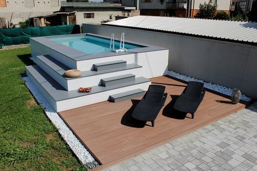 Pavimento per piscine interrate costruzione piscine deck per
