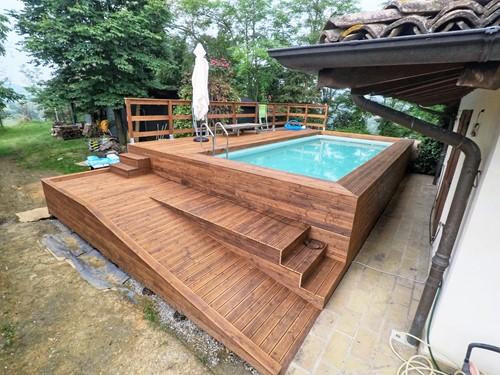 Rivestimento In Legno Per Piscine Fuori Terra : Le 48 più belle piscine fuori terra rivestite piscine
